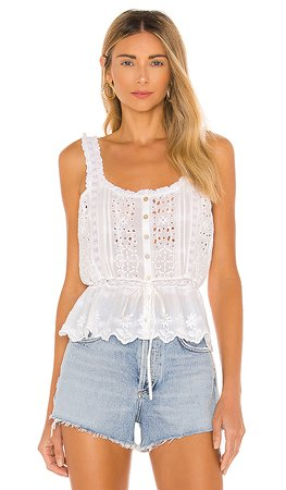 LoveShackFancy Luanne Tank in White | REVOLVE