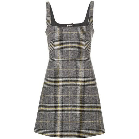ALEXACHUNG Grey Cutout Pinafore Dress