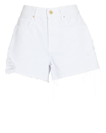FRAME Le Brigette Denim Cut-Off Shorts | INTERMIX®