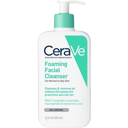 CeraVe Foaming Facial Cleanser For Normal To Oily Skin | Ulta Beauty