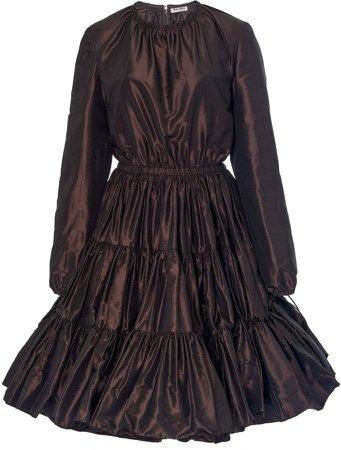 Taffeta Long Sleeve Dress