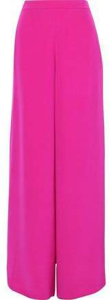 Nelle Split-side Silk-satin Wide-leg Pants