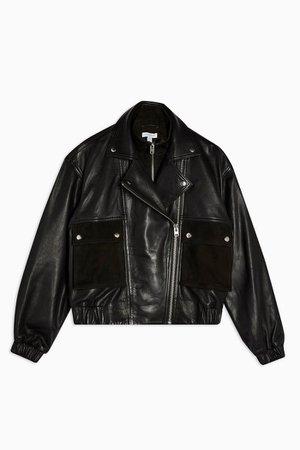 Black Leather Jacket | Topshop