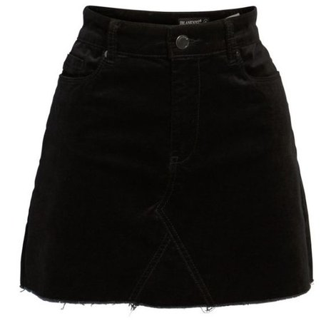 short black denim miniskirt