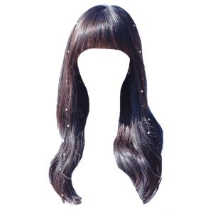 black hair png bangs