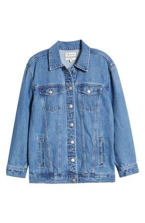 Madewell Balboa Wash The Oversize Jean Jacket   Nordstrom