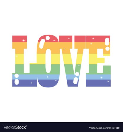 Isolated lgtbi love text design Royalty Free Vector Image