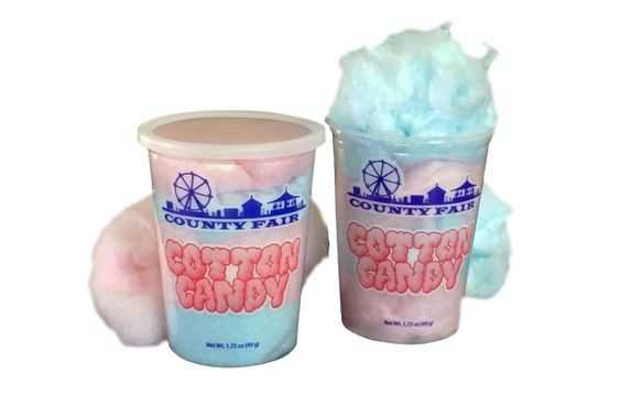 buckets of cotton candy