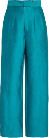 Aliette Straight-Leg Satin Pants