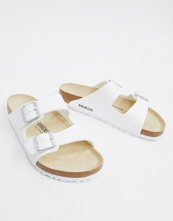 Birkenstock arizona birko-flor sandals in white | ASOS