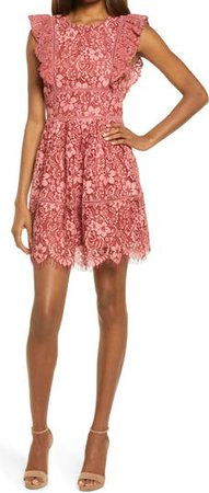 Lace Cocktail Minidress | Nordstrom