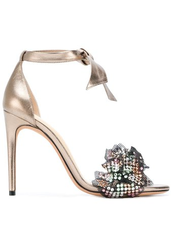 Alexandre Birman Ankle Strap Embellished Sandals B35145002 Metallic | Farfetch