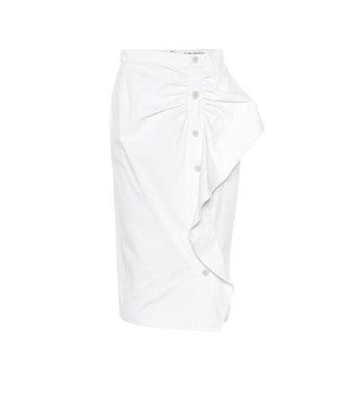 Edmond cotton twill midi skirt