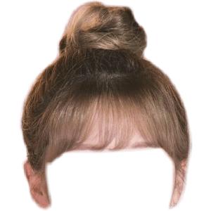 SHORT HAIR BUNS PNG BANGS