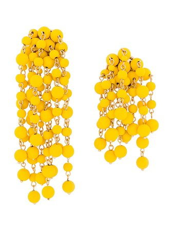 Jacquemus Beaded Chain Earrings Ss20 | Farfetch.com