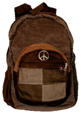 hippie backpack png