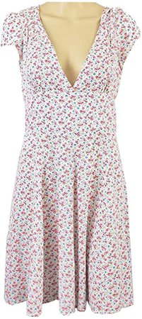 Ralph Lauren Denim & Supply Floral-Print Cutout Fit & Flare Dress (8, Whitfield Floral) at Amazon Women's Clothing store