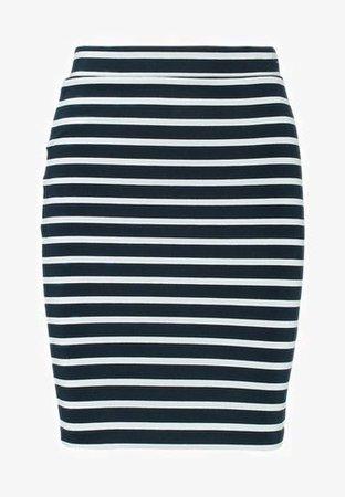 Tommy Jeans BASIC SKIRT - Pencil skirt - navy blazer/bright white - Zalando.co.uk