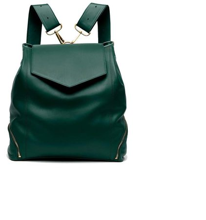 Holly & Tanager - The Professional Leather Backpack Purse In Emerald
