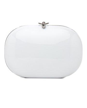 Jeffrey Levinson | White Gloss Clutch | Clutches | Handbags