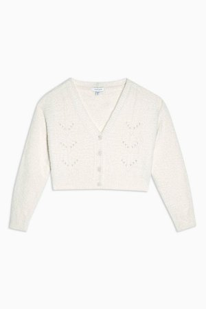 IDOL Ivory Fluffy Cardigan   Topshop