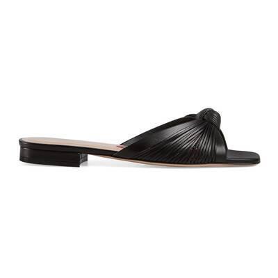 Leather slide sandal | GUCCI®