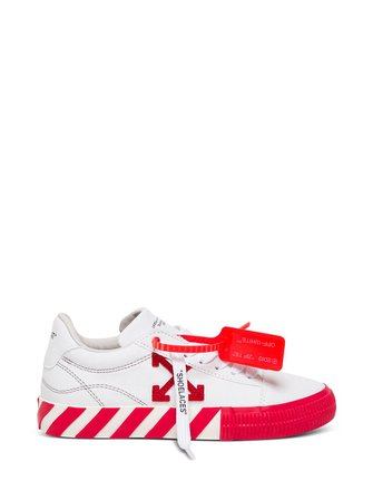 Off-White Canvas Low Vulcanized Sneakers