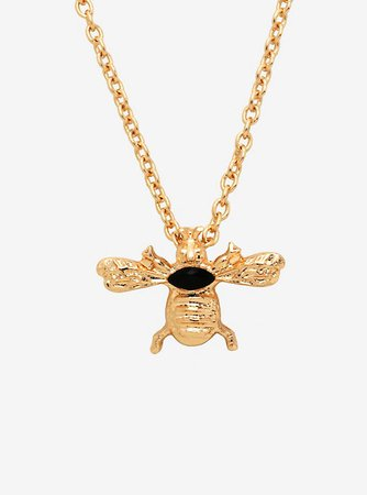 Gold Bee Dainty Necklace