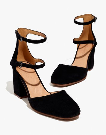The Annalise Ankle-Strap Pump in Suede