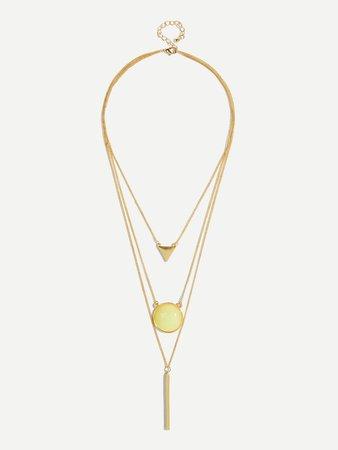 Triangle Mulch Layer Pendant Necklace