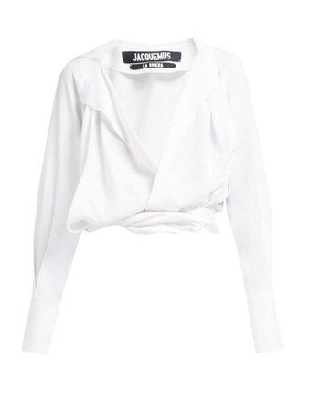 Figari plunge knot-front top | Jacquemus