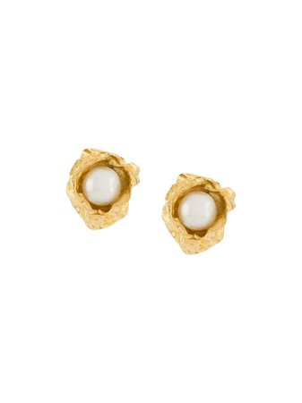Niza Huang pearl-embellished Stud Earring - Farfetch