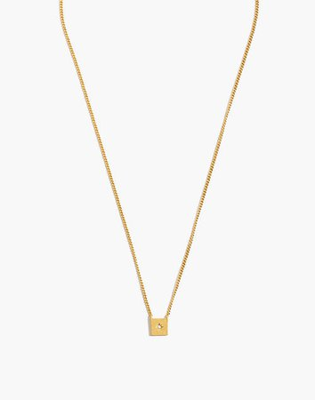 Square Pendant Choker Necklace