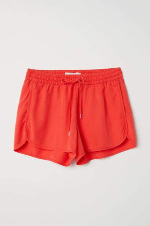 Lyocell Shorts - Red