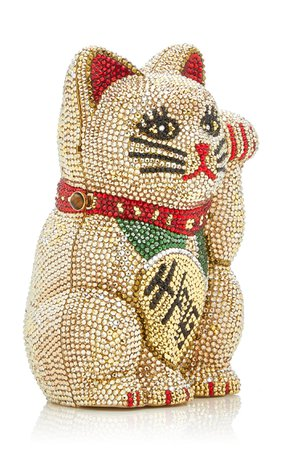 Beckoning Cat Crystal Novelty Clutch By Judith Leiber Couture | Moda Operandi