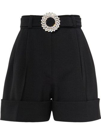 Miu Miu Embellished-Buckle Shorts