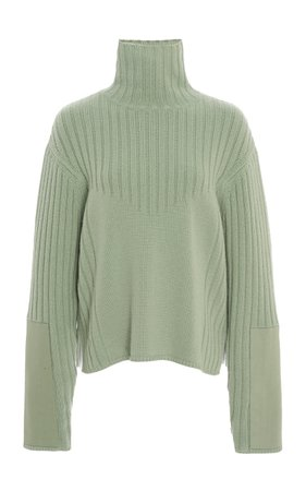Ribbed Wool-Cashmere Turtleneck by Sally LaPointe | Moda Operandi