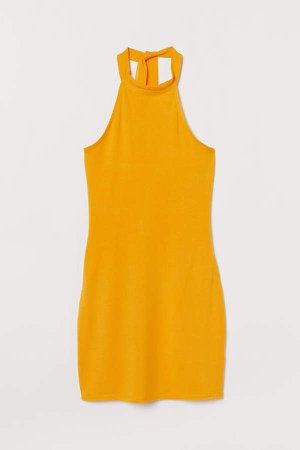 Halterneck Dress - Yellow