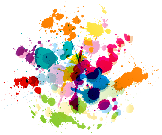 Colorful Paint Splatter Transparent Clip Art Image | Gallery Yopriceville - High-Quality Images and Transparent PNG Free Clipart