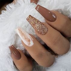 Pinterest - 20+ Trendy and Attractive Marble Coffin Nails Design – Page 9 – Chic Cuties Blog #nailsacryliccoffin | nails
