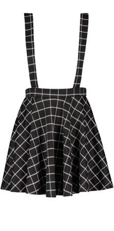 Grid Check Pinafore Skirt   Boohoo UK