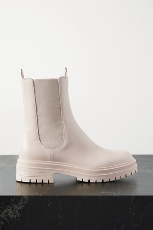 Chester Leather Chelsea Boots - Beige