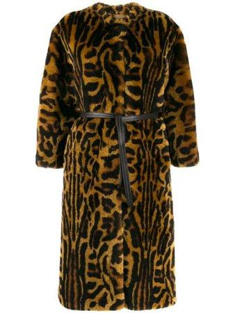 Givenchy Leopard Print Faux Fur Coat - Farfetch