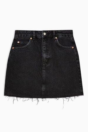 Black Denim Mini Skirt | Topshop