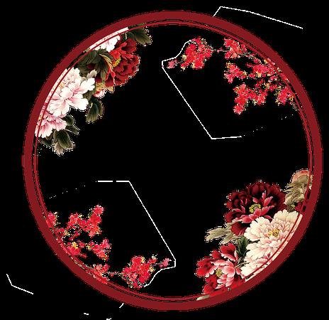 circle flower frame overlay tumblr...