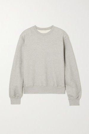 Vanessa Cotton-jersey Sweatshirt - Gray