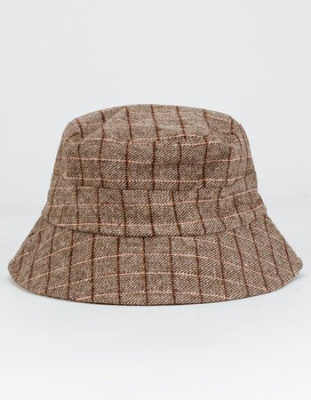 Plaid Tan Bucket Hat - TAN - GEN-0003TY | Tillys
