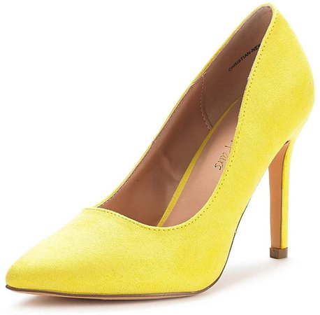 Amazon.com | DREAM PAIRS Women's Yellow Suede High Heel Pump Shoes - 7 M US | Pumps