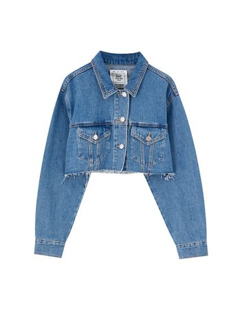 cropped denim jacket - Google Search