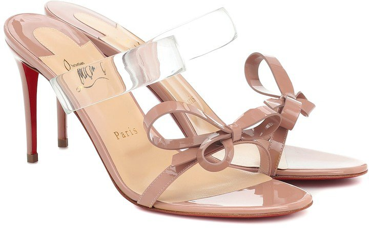Just Nodo 85 PVC and patent-leather sandals